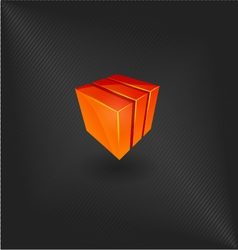Abstract design elements icon cube vector