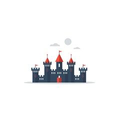 Big fantasy castle vector