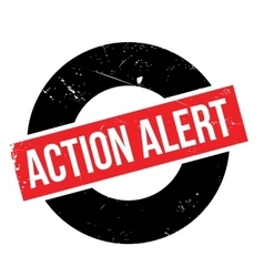 Action alert rubber stamp vector