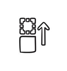 Movement of files sketch ico vector