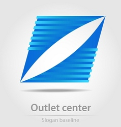 Originally designed outlet center business icon vector