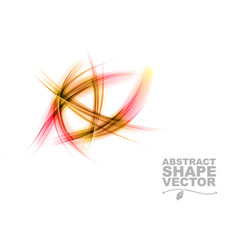 Abstract shapes on white only red vector