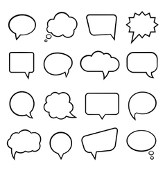 Speech bubbles for infographics vector