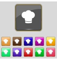 Chef hat sign icon cooking symbol cooks hat set vector