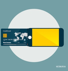 Shopping payment concept mobile smart phone with vector