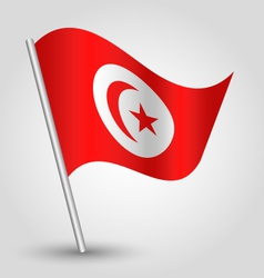 Flag tunisia vector