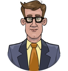 bust businessman vector image