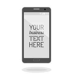 Cell phone icons vector image