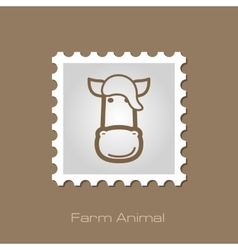 Horse stamp animal head vector