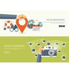 Flat travel background map vector