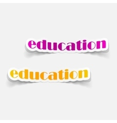 Realistic design element education vector