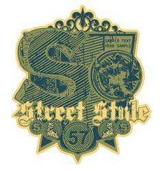 grunge urban label vector image