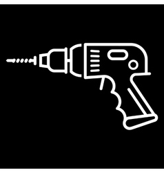 Electric drill sign vector