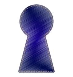 Keyhole sign vector