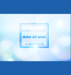 abstract bokeh blue and light effect background vector image vector image