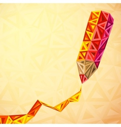 Abstract triangles pencil bacground vector image