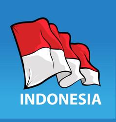 bendera sansaka merah putih vector image vector image