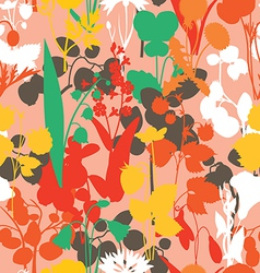 BERRYES and flowers seamless pattern vector image vector image