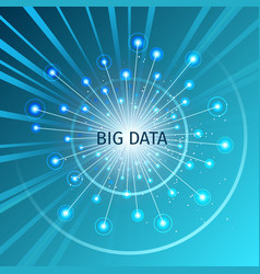 big data with rays and flashes vector image vector image