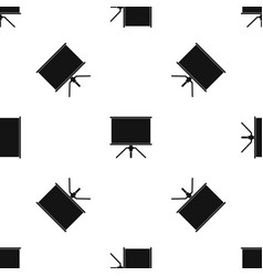 Blank projection screen pattern seamless black vector