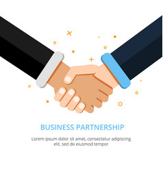 businessman shaking hands in vector image