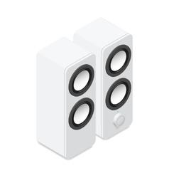Computer speakers isometric icon vector image vector image
