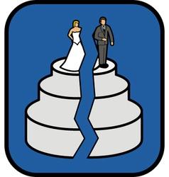 Divorce cake vector