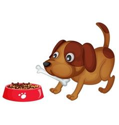 Doggy dinner vector image