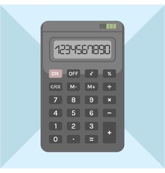 flat calculator on background object for design vector image vector image