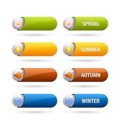 Four season buttons vector image vector image