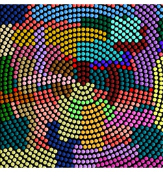 Futuristic abstract mosaic vector image
