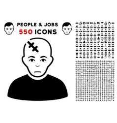 Head hurt icon with bonus vector