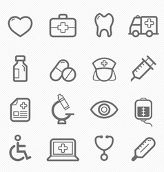 healthy and medical symbol line icon set vector image vector image