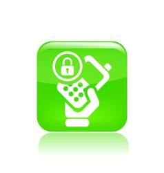 Lock phone icon vector