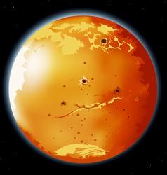 mars planet vector image vector image