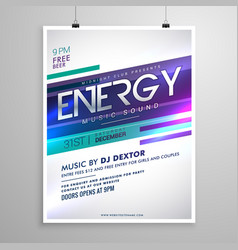 modern creative music flyer template design vector image vector image