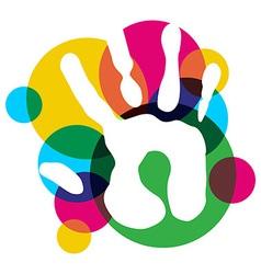 Multicolor diversity hand vector