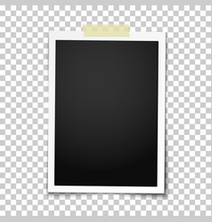 Realistic photo frame with straight edges vector