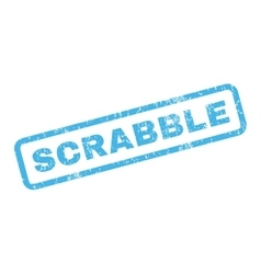 Scrabble rubber stamp vector