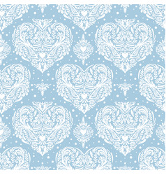 Seamless vintage pattern with hearts vector