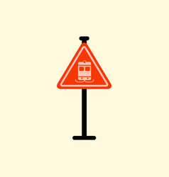 Tram traffic sign vector
