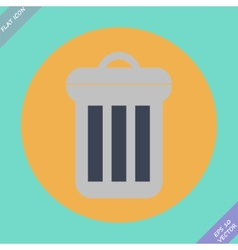 Trash can icon - vector image vector image