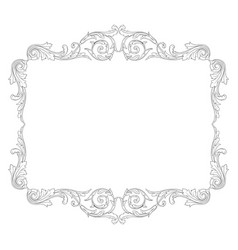 vintage baroque ornament element vector image