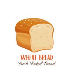 Wheat bread icon vector