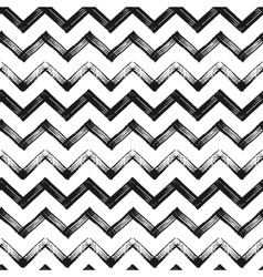 Zigzag chevron grunge black pattern background vector image vector image