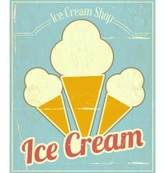 Ice Cream Vanilla Card vector image