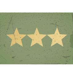 grStar sign grunge background vector image