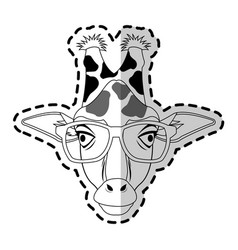 Hipster animal icon image vector