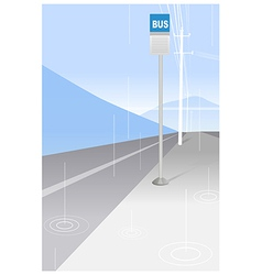Bus stop sign and power pole vector