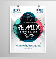 Remix club party flyer poster template vector
